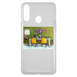 Чохол для Samsung A20s Dining table with flowers