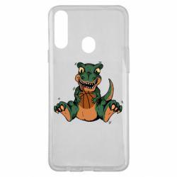Чехол для Samsung A20s Dinosaur and basketball