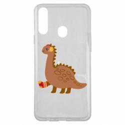 Чехол для Samsung A20s Dinosaur in sock