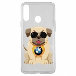 Чохол для Samsung A20s Dog with a collar BMW
