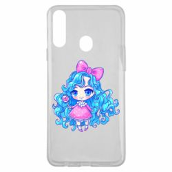 Чохол для Samsung A20s Doll with blue hair