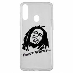 Чехол для Samsung A20s Don't Worry (Bob Marley)