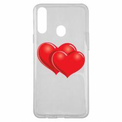 Чехол для Samsung A20s Два сердца