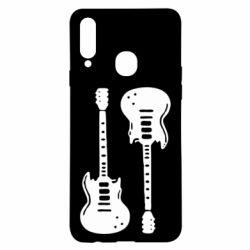 Чохол для Samsung A20s Дві гітари