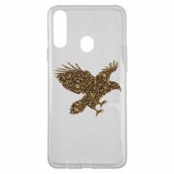Чехол для Samsung A20s Eagle feather