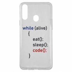 Чохол для Samsung A20s Eat, Sleep, Code