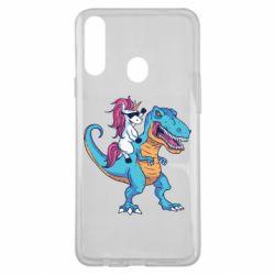 Чохол для Samsung A20s Єдиноріг і динозавр