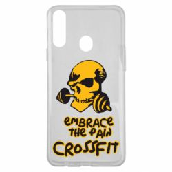 Чехол для Samsung A20s Embrace the pain. Crossfit