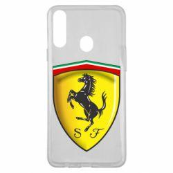 Чехол для Samsung A20s Ferrari 3D Logo