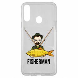Чохол для Samsung A20s Fisherman and fish