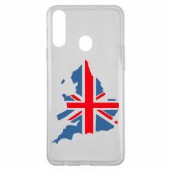 Чехол для Samsung A20s Флаг Англии
