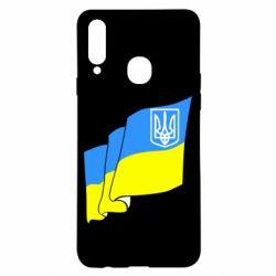 Чехол для Samsung A20s Флаг Украины с Гербом