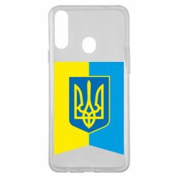 Чехол для Samsung A20s Flag with the coat of arms of Ukraine