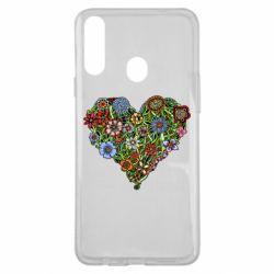 Чохол для Samsung A20s Flower heart