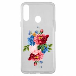 Чохол для Samsung A20s Flowers and butterfly