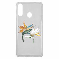 Чехол для Samsung A20s Flowers art painting