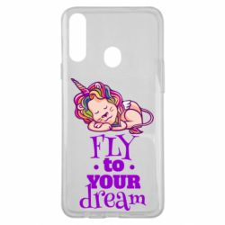 Чохол для Samsung A20s Fly to your dream and lion