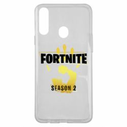 Чехол для Samsung A20s Fortnite season 2 gold
