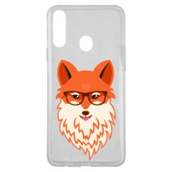 Чехол для Samsung A20s Fox with a mole in the form of a heart