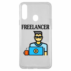 Чехол для Samsung A20s Freelancer text