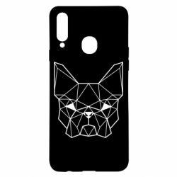 Чехол для Samsung A20s French Bulldog Art