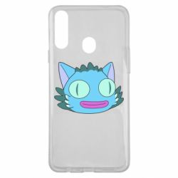 Чехол для Samsung A20s Funny cat from Rick and Morty season 4