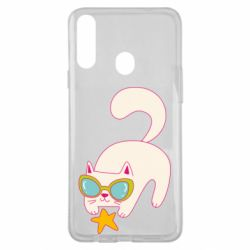 Чехол для Samsung A20s Funny cat with star