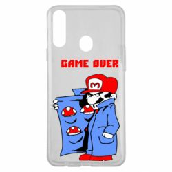 Чехол для Samsung A20s Game Over Mario