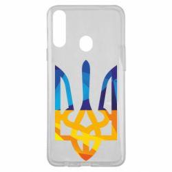 Чехол для Samsung A20s Герб из ломанных линий