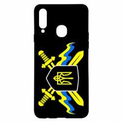 Чехол для Samsung A20s Герб та мечи