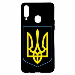 Чохол для Samsung A20s Герб України з рамкою