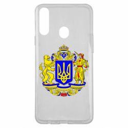 Чехол для Samsung A20s Герб Украины полноцветный