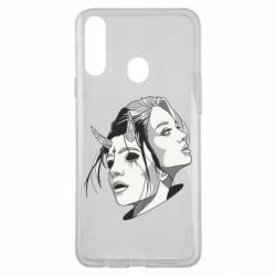 Чехол для Samsung A20s Girl and demon