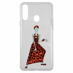 Чехол для Samsung A20s Girl in a dress without a face