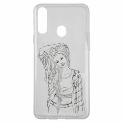 Чехол для Samsung A20s Girl with dreadlocks