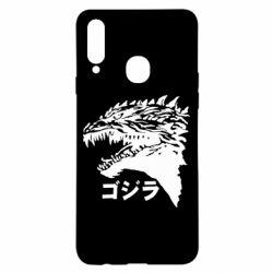 Чохол для Samsung A20s Godzilla in japanese