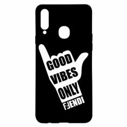 Чехол для Samsung A20s Good vibes only Fendi