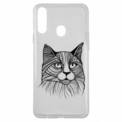 Чохол для Samsung A20s Graphic cat