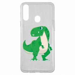 Чохол для Samsung A20s Green little dinosaur