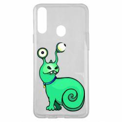 Чехол для Samsung A20s Green monster snail