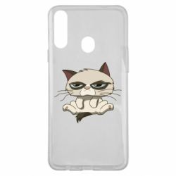 Чохол для Samsung A20s Grumpy Cat Art nope