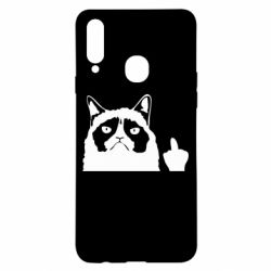 Чохол для Samsung A20s Grumpy cat F**k Off