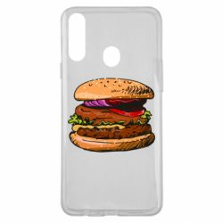 Чехол для Samsung A20s Hamburger hand drawn vector