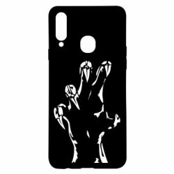 Чехол для Samsung A20s Hand with claws
