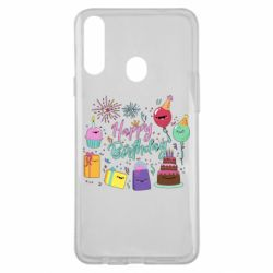 Чохол для Samsung A20s Happy Birthday