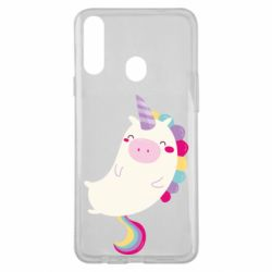 Чехол для Samsung A20s Happy color unicorn