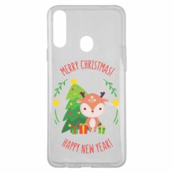 Чехол для Samsung A20s Happy new year and deer