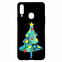 Чохол для Samsung A20s Happy new year on the tree