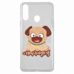 Чехол для Samsung A20s Happy pug