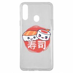 Чехол для Samsung A20s Happy sushi
